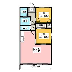 ブルーハイツ福塚[2階]の間取り