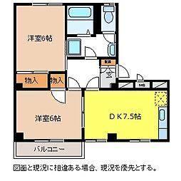 ガーデンタウン北長野A棟[1階]の間取り