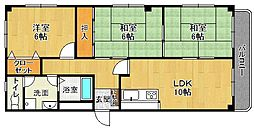 エムテ甲子園[3階]の間取り