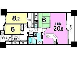 ラドーニタワー蟹江 4階