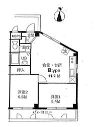 レジデンス石半弐番館(レジデンスいしはんにばんかん)[3階]の間取り