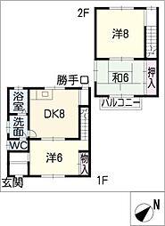 [タウンハウス] 三重県四日市市別名1丁目 の賃貸【/】の間取り