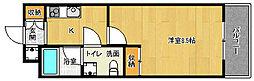 京都府京都市上京区小伝馬町の賃貸マンションの間取り