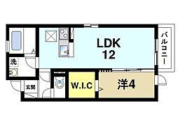 近鉄奈良線 近鉄奈良駅 バス22分 井戸野町下車 徒歩1分の賃貸アパート 1階1LDKの間取り