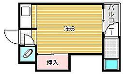 コーポ東太田[1階]の間取り