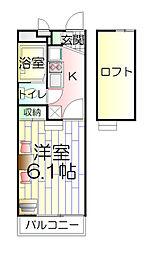 東京都足立区中川1丁目の賃貸マンションの間取り