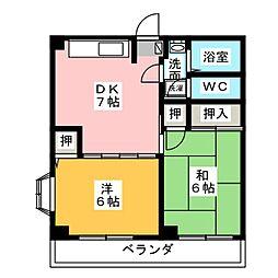 ハヤシマンション[3階]の間取り
