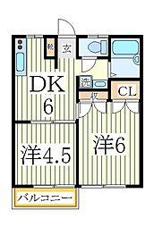 ライトガーツェ[2階]の間取り