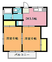 岡本アパート[201号室]の間取り