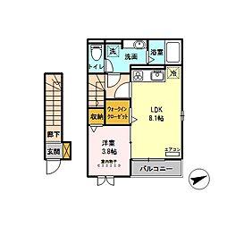 (仮)東大宮4丁目新築D-room[205号室]の間取り