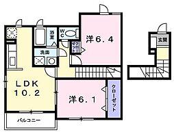 シュティルU[2階]の間取り