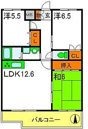 アルパーク東三国 4階3LDKの間取り