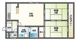 田辺TKマンション[4階]の間取り