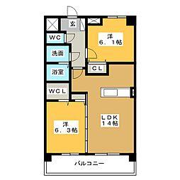 M's25[3階]の間取り