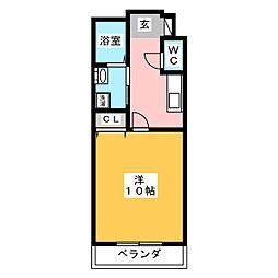 プラチナムステータスタワー[6階]の間取り