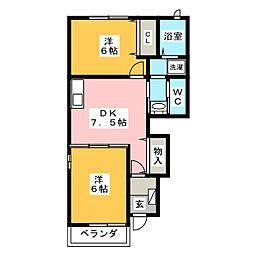 オプティIII[1階]の間取り