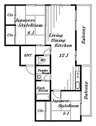 MSマンション[2階]の間取り