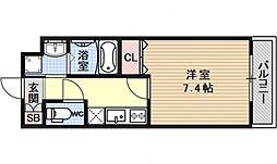 ベラジオ京都壬生EAST GATE[302号室号室]の間取り