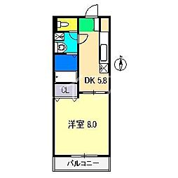 コージーコート[4階]の間取り