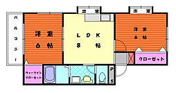 レンブランサ舞松原1[1階]の間取り
