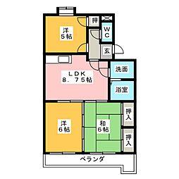 エクセル寄京[3階]の間取り