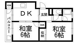 第一岸田マンション[0204号室]の間取り