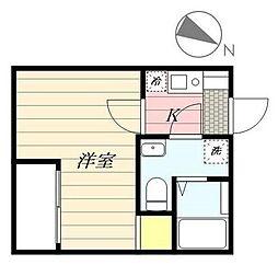 成田スカイアクセス 京成高砂駅 徒歩6分の賃貸アパート 2階1Kの間取り