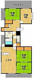 ラヴィーナ武庫之荘[3階]の間取り