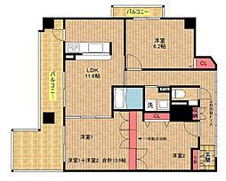 アネックス六兵衛三番館[3階]の間取り