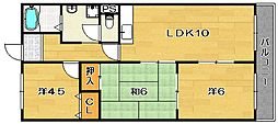 エトアール茨木[1階]の間取り