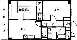 デアベルク夙川[2階]の間取り