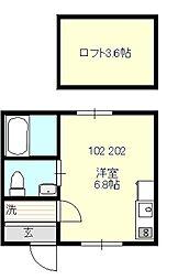 ベイルーム戸塚II[202号室号室]の間取り