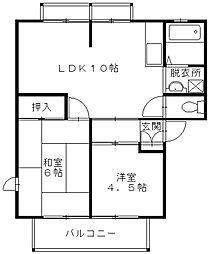 ハイツウィンディア[2階]の間取り