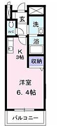 JR予讃線 讃岐塩屋駅 徒歩7分の賃貸アパート 1階1Kの間取り