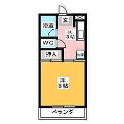 ハイツオオタ[2階]の間取り