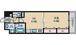 ベロクオーレ三国[6階]の間取り