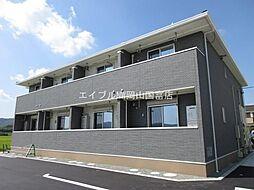 岡山県岡山市東区瀬戸町沖丁目なしの賃貸アパートの外観