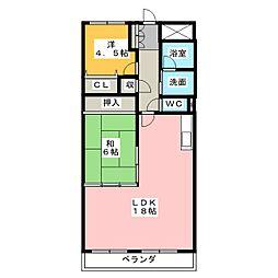 岩倉グリーンハイツ DX[3階]の間取り