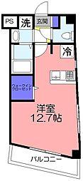 ツリーデン松戸[2階]の間取り