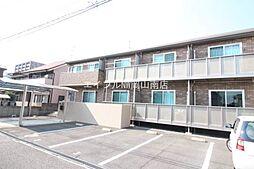 岡山県岡山市南区福富西1丁目の賃貸アパートの外観