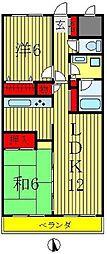 エクセレンス松戸壱番館[3階]の間取り