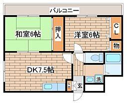 兵庫県神戸市長田区大橋町1丁目の賃貸マンションの間取り