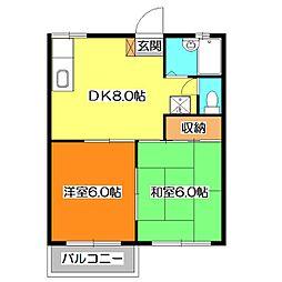 埼玉県新座市新堀1丁目の賃貸アパートの間取り