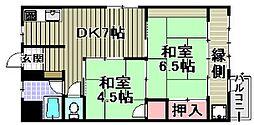 マンション新川[606号室]の間取り