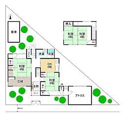JR奈良線 棚倉駅 徒歩20分 4DKの間取り