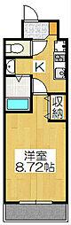 京都烏丸保枠ビル[805号室]の間取り