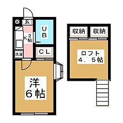 ロングラン台原II[2階]の間取り