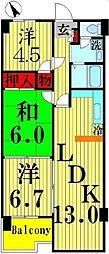 埼玉県飯能市新町の賃貸マンションの間取り