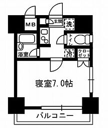 レジディア月島3[2階]の間取り