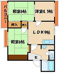 タウニー西明石[2階]の間取り